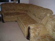 угловой диван с креслом,  раскладывается в спальное место с механизмом