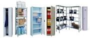 Шкафы металлические,  стеллажи,  сейфы