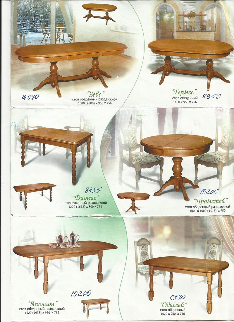 Мебель из Белоруссии. Столы и стулья - Мебель, интерьер