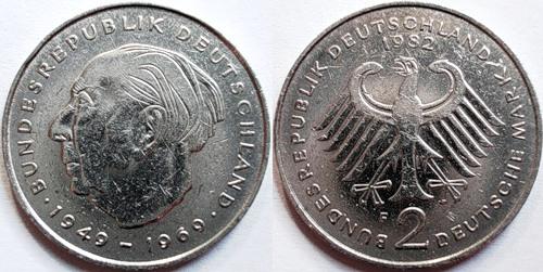 цена монеты 2 дойч марки