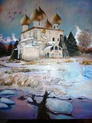 «Храм Воскресения». 2009. Холст,  масло. 65 на 85 см.