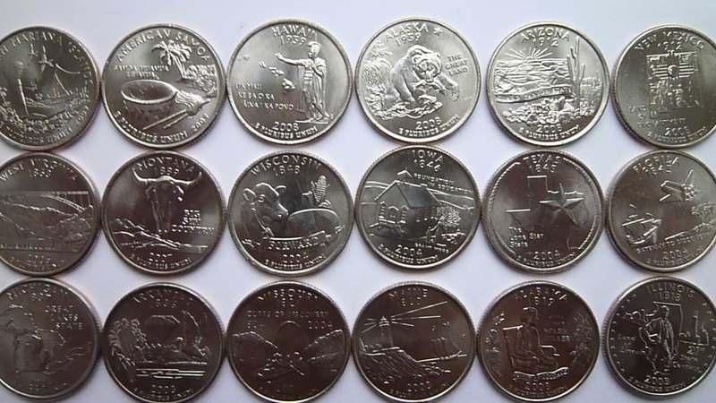 Монеты сша квотеры штаты королев скупка