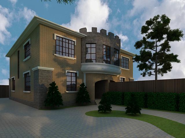Дом на 2-х хозяев, участок земли 2 сот. и площадь дома 120 м2 на