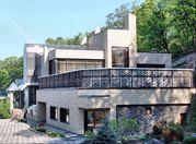 Современная отделка фасада дома