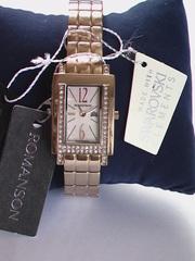 Роскошные,  позолоченные,  ювелирные часы Romanson из коллекции Regina