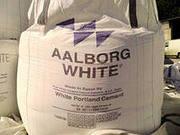 Белый цемент (М-600) Олборг Уайт,  Египет навалом в биг бэгах - 6200руб