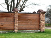 Забор,  ворота из дерева
