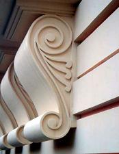 Архитектурный фасадный декор из пенопласта .