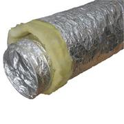 Воздуховоды алюминиевые гибкие теплоизолированные,  толщина стенки 64