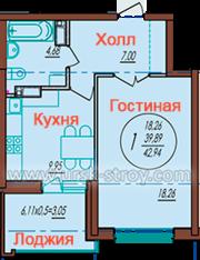 Продаю 1-комнатную квартиру на Автолюбителей 52/4