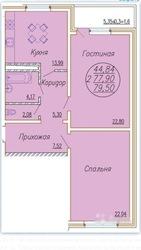 Продаю 2-ком.квартиру по ул. Леваневского в ЖК