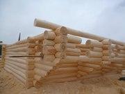 Бревенчатые срубы из дерева, липы для бань .домов