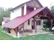 Дом в станице Краснодарского края (хутор Годовников),  рядом горы.