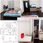 Просторная однокомнатная квартира с частичным ремонтом