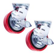 Колесо поворотное с боковым тормозом PU1540CB3ra/TG