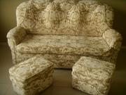 Продаю диван- кровать с двумя пуфиками